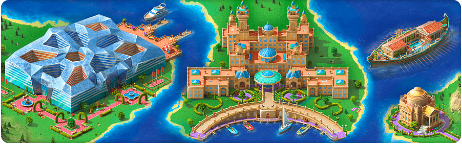 Floating Palaces Background
