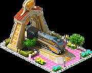 Gold Helen Locomotive Arch