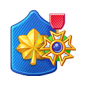 Badge Military Level 58