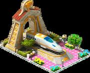 Gold Tsubame Locomotive Arch