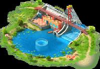 Mountain Hydro Power Plant