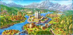 Celtic Valley Background