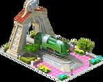 Silver Atlantic Locomotive Arch