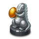 C2M Silver Figurine