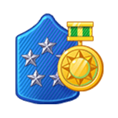 Badge Military Level 91