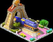 Gold Confederation Locomotive Arch