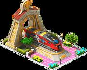 Gold Fanipal Locomotive Arch