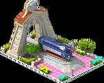 Silver Pacific Locomotive Arch