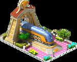 Gold Mercury Locomotive Arch