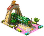 Gold Green Diamond Locomotive Arch