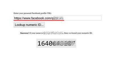 Find Facebook ID
