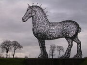 RealWorld Clydesdale Sculpture