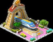 Gold Falcon Locomotive Arch
