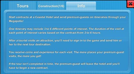 Coastal Hotel Tour Info