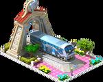 Silver Rotem Locomotive Arch