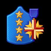 Badge Military Level 100