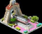 Silver Mallard Locomotive Arch