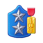 Badge Military Level 77