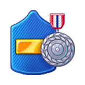 Badge Military Level 45