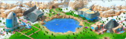 Mysterious Crater Background