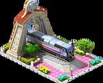 Silver Valencia Locomotive Arch