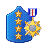 Badge Military Level 104