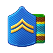 Badge Military Level 6