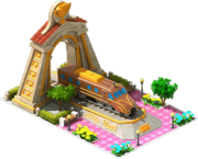 Gold Moomin Locomotive Arch