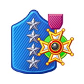 Badge Military Level 87