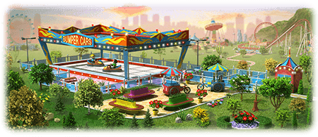 Bumper Cars Attraction Artwork