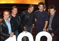 I principali attori all'episodio 100