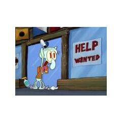 On No!. Spongebob is going to work at the Krusty Krab!!.
