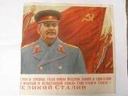 Stalin soviet flag
