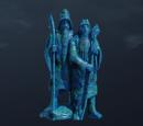 Wyblakła azurytowa figurka, Dwóch Istari