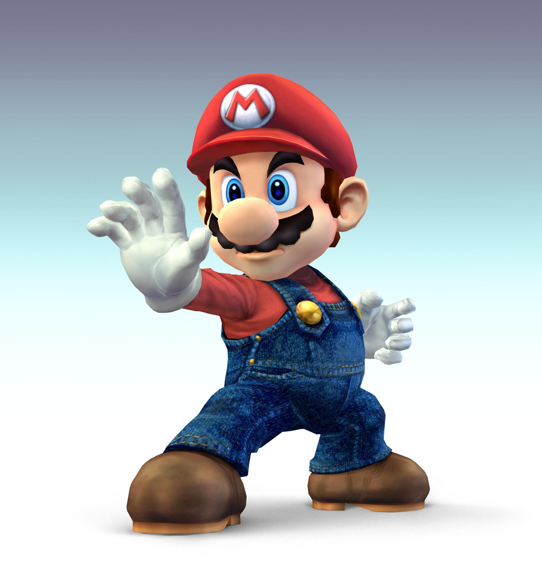 Mario CG Art Normal MarioSymbol Universe Super Appears In Smash Bros