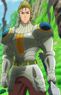 Hauser wearing armor