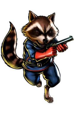 Rocket Racoon CG Art