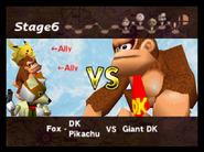 VS Screen (Fox & Donkey Kong & Pikachu VS Giant Donkey Kong)