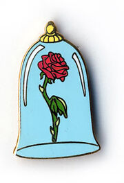 Beauty and the Beast Boxed Pin Set (Enchanted Rose)