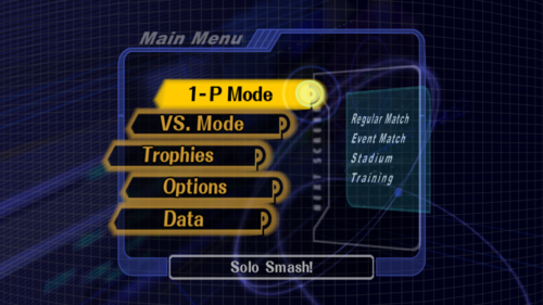 Mode Select - Super Smash Bros. Melee
