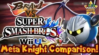 SMC Brawl vs. Smash Bros. Wii U - Meta Knight Moveset & Model Comparison!