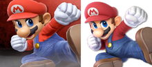 E3 Mario render vs