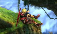Shulk Tumbling Sm4sh 3DS