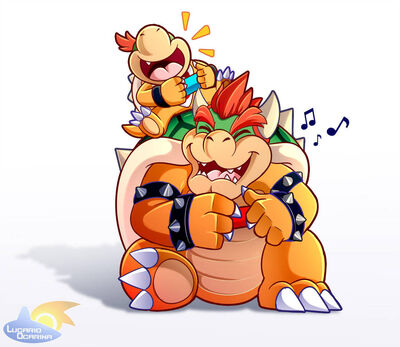 Bowser jr has a really cool dad