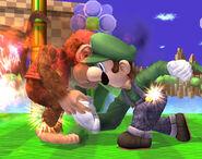 Fire Jump Punch Luigi SSBB