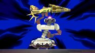 Red R.O.B. (Robotic Operating Buddy) with a Daybreak in Super Smash Bros Ultimate