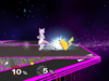 Mewtwo Floor attack (front) SSBM