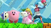 Spring Man Peach and Kirby