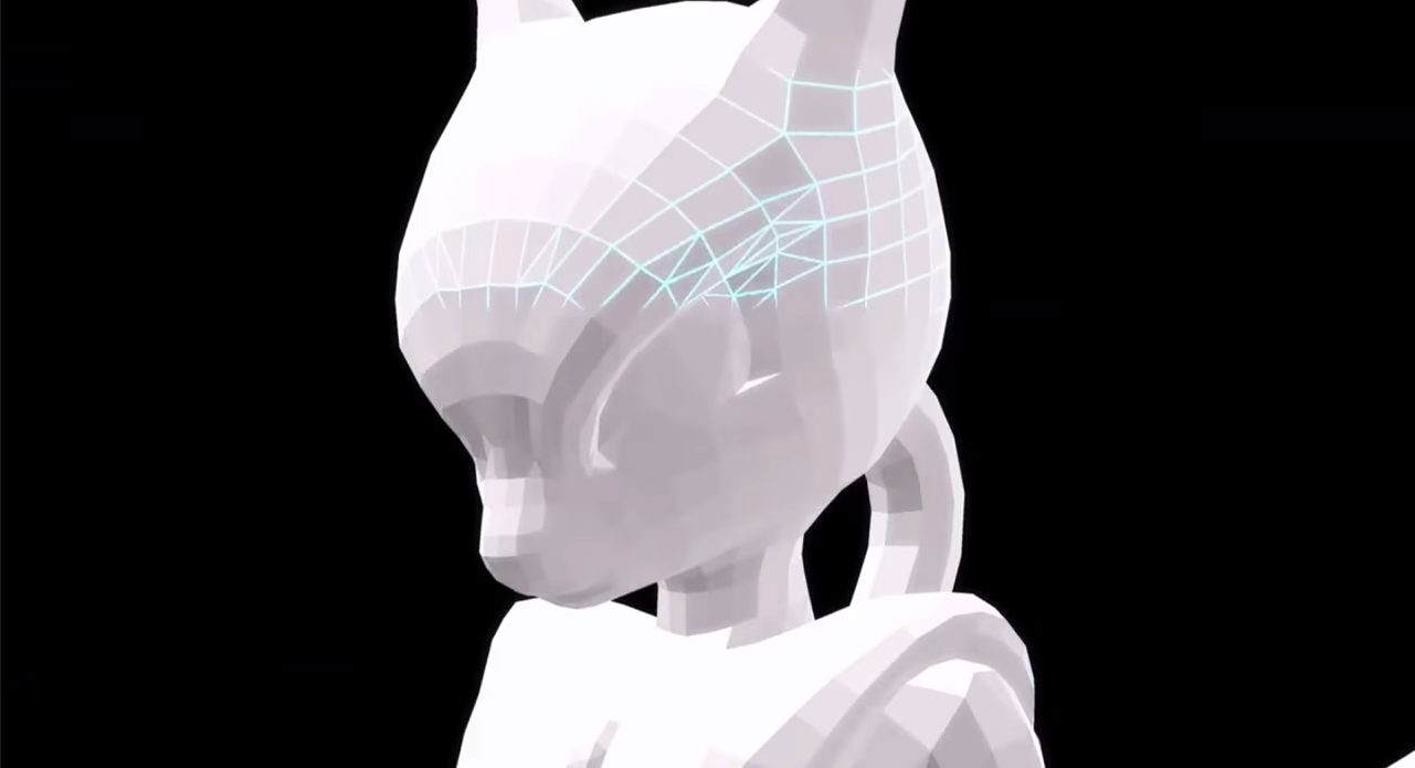 Image - Mewtwo wireframe face.png | Smashpedia | FANDOM powered by Wikia