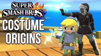 Super Smash Bros. Costume Origins - Zelda Series